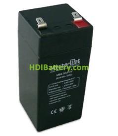 Batería para Alarma 4v 4,5Ah Plomo Agm